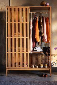 Bohemian Bedroom Decor, Home Decor Bedroom, Ikea Dressing Room, Home Room Design, House Design, Standing Closet, Diy Furniture, Furniture Design, Wooden Closet