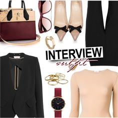 Job Interview by stacey-lynne on Polyvore featuring Chloé, Alix, Dolce&Gabbana, Christian Louboutin, Abbott Lyon, Kendra Scott, Finn and Oliver Peoples