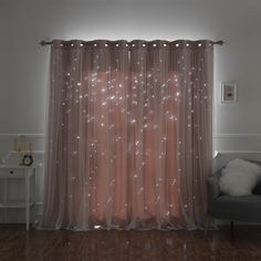 Dusty Pink curtains - Aurora Home Star Punch Tulle Overlay Blackout Curtain Panel Pair W X 63 L dusty pink). Home Curtains, Grommet Curtains, Blackout Curtains, Curtain Panels, Tulle Curtains, Pink Bedroom Curtains, Unique Curtains, Closet Curtains, Style At Home