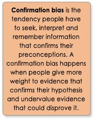 confirmation bias essay Regarding confirmation bias after the initial writing / submission of the first essay, introduce the concept of confirmation bias.