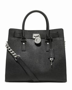 Michael Kors Große Hamilton Saffiano Tote Schwarz #bagsandpurses#jewellery #jewellerydesign}