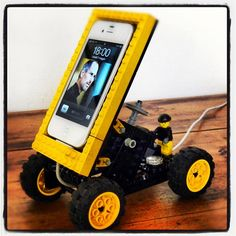 lego iphone holder #lego finally a way for my son in law to have fun