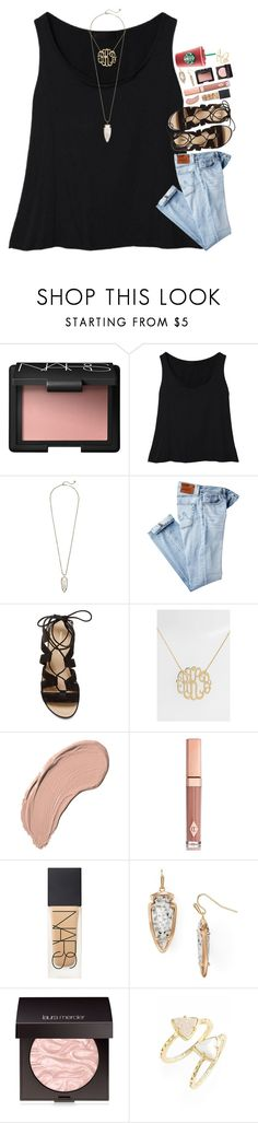 """neutralsss"" by sdyerrtx ❤ liked on Polyvore featuring NARS Cosmetics, Kendra Scott, AG Adriano Goldschmied, Rebecca Minkoff, Argento Vivo, NYX, Charlotte Tilbury and Laura Mercier"