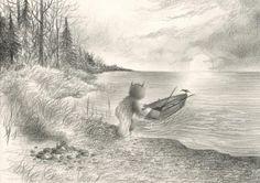 Embark - graphite on arches aquarelle paper. Drawing 27... #Dan_May_Art #Arsetculture #Tumblr_Curator