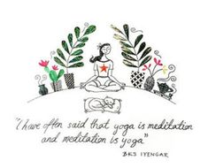 I adore this artwork! Yoga and meditation go hand in hand, breath and flow, breath and stillness. Just the thing to calm an over busy, over…