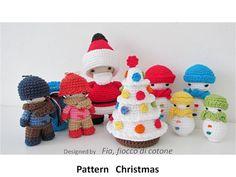 Pattern Christmas miniature doll amigurumi crochet by cottonflake