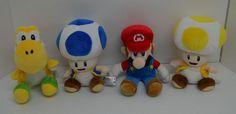 "Super Mario Bros Nintendo Wii Mario Yellow & Blue Toad Yoshi Plush Lot 4 6"" #Nintendo http://stores.ebay.com/Lost-Loves-Toy-Chest/_i.html?image2.x=0&image2.y=0&_nkw=mario"