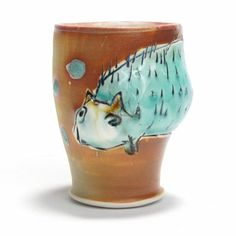 Small Animal Cup -Bernadette Curran The Clay Studio  $48.
