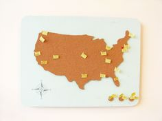 Cork map. can I get one of these in a world?