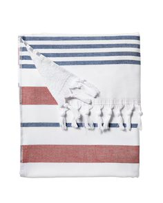 Serena and Lily Fouta Stripe Red / White / Blue Beach Towel for Summer #style