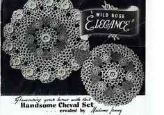 PDF Antique 1930s Doily Set Irish Crochet Pattern BULLTHORN Irish Crochet Patterns, Doily Patterns, Crochet Motif, Vintage Patterns, Vintage Knitting, Vintage Crochet, Period Color, Motifs Roses, Types Of Patterns