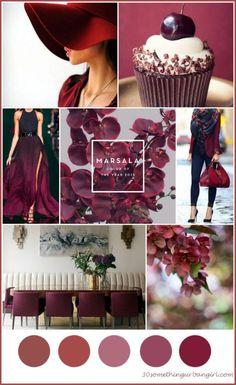 Pantone color of the year, Marsala mood board | #Pantone #Marsala #Pantonecolor #Pantonecolor2015