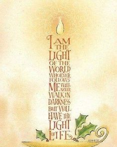 Discover and share Jesus The Light Is Quotes. Explore our collection of motivational and famous quotes by authors you know and love. Bible Art, Scripture Verses, Bible Scriptures, Bible Quotes, Bibel Journal, Theme Noel, Light Of The World, Christmas Quotes, Christmas Night