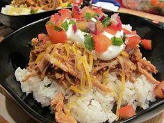 Skinny Taste Slow Cooked Barbacoa Pork with Cilantro Lime Rice