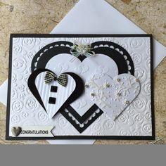 Tarjeta de boda hecha a mano
