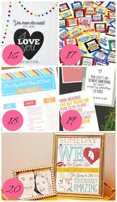 Tips on how to keep the love alive when apart through adorable printables!