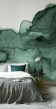 Décor de tête de lit : ombré / aquarelle