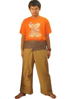 Very Nice 2 Tone Thai Fisherman Pants Yoga Trousers Free Size Cotton * Continue to the product at the image link.(This is an Amazon affiliate link and I receive a commission for the sales)