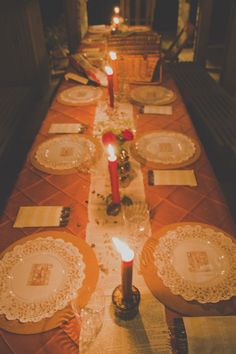 Doilies and clear plates? | A Thanksgiving Day Wes Anderson-inspired wedding | Offbeat Bride
