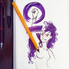 """7,737 Me gusta, 90 comentarios - Kaos (@estudiokatastrofico) en Instagram: """"Para celebrar el día de la mujer trabajadora quiero recomendaros a varias artistas de Instagram:…"""""""