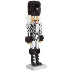 Thanks to their famous black and white stripes, zebras are known to represent the harmonious blending of opposites. In this case, the strong, silent tradition of holiday nutcrackers and the rugged glamour of zebra stripes. Our handsome soldier is crafted from strong cherry wood with a hand-painted uniform, which makes him a harmonious addition to any mantelscape. A Pier 1 exclusive.