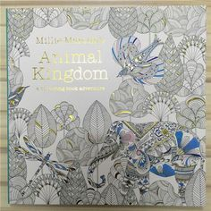 With Pencil Coloring Book For Adults Secret Garden series Millie Marotta's Animal Kingdom 96 pages in English Popular gifts