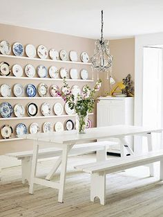 plate racks + simple table