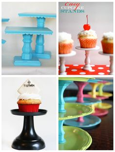 I LOOOOVE cupcakin! Stands get so expensive for parties and events so these ideas are awesome!!!