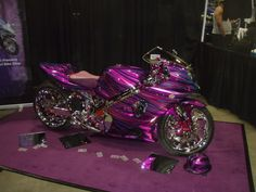 Girly Sports Car | purple street bike Image