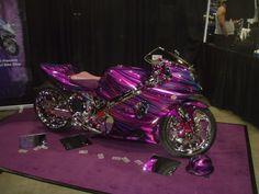 Girly Sports Car | purple street bike Image