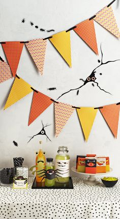 Go from package to party in minutes with Halloween decorations from #marthastewartcrafts