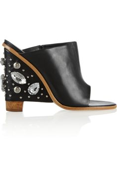 Tibi Embellished leather mules NET-A-PORTER.COM