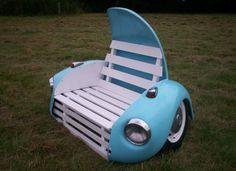 eBay watch: Classic VW Beetle garden bench