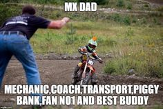 Me and my dad may not have the best relationship at home but when it comes to moto ... things change