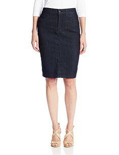 NYDJ Women's Dora Skirt Denim, Dark Enzyme, 8