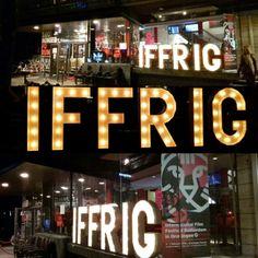 Lumen Lichtletters op het IFFRIG #lichtletters #IFFR #IFFRIG #marquee www.lumenlichtletters.nl