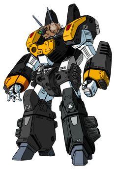 Robotech. Veritech in extra armor/weaponry