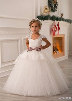 Ivory Flower Girl Dress Birthday Wedding by Butterflydressua More