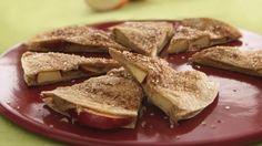 Creamy Apple-Cinnamon Quesadilla