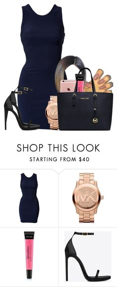 """""""Untitled #2542"""" by alisha-caprise ❤ liked on Polyvore featuring Oneness, Michael Kors, philosophy and Yves Saint Laurent"""