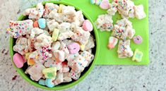 Oh my goodness... recipe for Lucky Rainbow Chex Mix. Basically a Chex Mix that uses Lucky Charms and white chocolate. Also, sprinkles. Wow...I might need to make this and immediately give it away.  :)