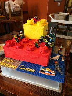 lego movie birthday cake ideas   Via Brittany Holmberg