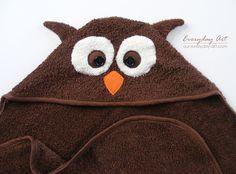 Everyday Art: Hooded Towel Owl