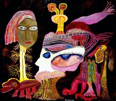 """Ursula Schultze-Bluhm """"Ursula"""" -  L' Impératrice des Indes   (Öl auf Leinwand, 1995)"""