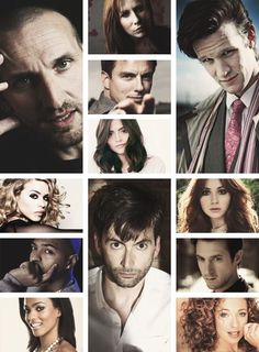 Doctor Who cast...is it just me, or does Jenna look a lot like Courtney Cox in this pic??!