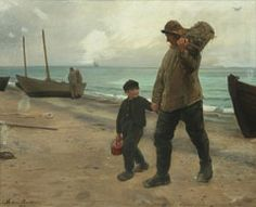 Michael Peter Ancher (1849-1927): Father and Son, 1885