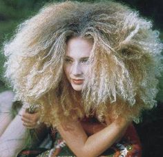 I have thick curly/frizzy hair. Fear of this happening is exactly why I wear my hair up. Long Layered Curly Hair, Thick Curly Hair, Curly Hair Styles, Natural Hair Styles, Curly Afro, Long Curly, Blonde Afro, Hair Secrets, Super Long Hair