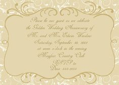 1000 images about anniversary invitations on pinterest for Wedding anniversary certificate template