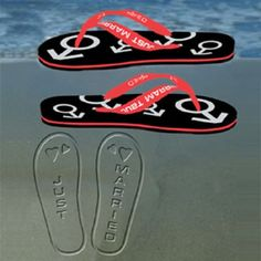 Mens Just Married Flip Flops  from Personalised Gifts Shop - ONLY £6.99