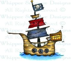Pirate Ship - Pirates - Rubber Stamps - Shop